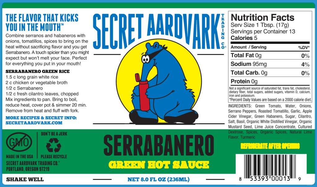 Secret Aardvark serrabanero label