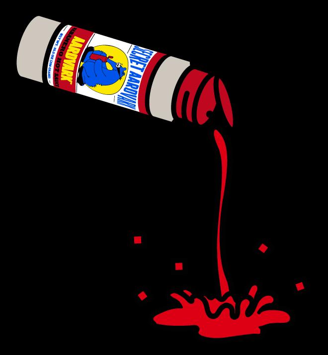 bottle of secret aardvark pouring